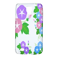 Flower Floral Star Purple Pink Blue Leaf Galaxy S4 Active by Mariart