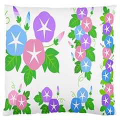 Flower Floral Star Purple Pink Blue Leaf Standard Flano Cushion Case (one Side) by Mariart