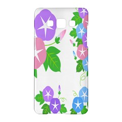 Flower Floral Star Purple Pink Blue Leaf Samsung Galaxy A5 Hardshell Case  by Mariart