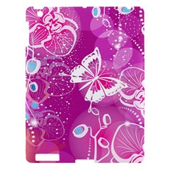 Flower Butterfly Pink Apple Ipad 3/4 Hardshell Case by Mariart