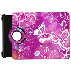 Flower Butterfly Pink Kindle Fire Hd 7  by Mariart