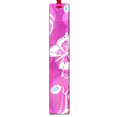 Flower Butterfly Pink Large Book Marks by Mariart
