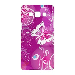 Flower Butterfly Pink Samsung Galaxy A5 Hardshell Case  by Mariart