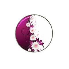 Flower Purple Sunflower Star Butterfly Hat Clip Ball Marker (10 Pack) by Mariart