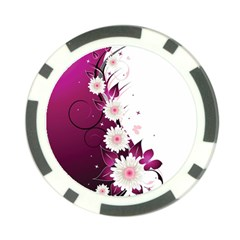 Flower Purple Sunflower Star Butterfly Poker Chip Card Guard (10 Pack) by Mariart