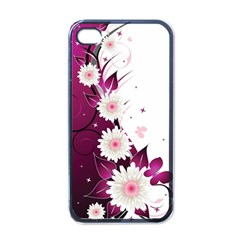 Flower Purple Sunflower Star Butterfly Apple Iphone 4 Case (black) by Mariart