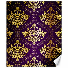 Flower Purplle Gold Canvas 8  X 10  by Mariart