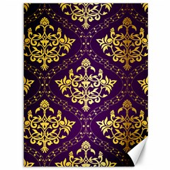 Flower Purplle Gold Canvas 36  X 48   by Mariart