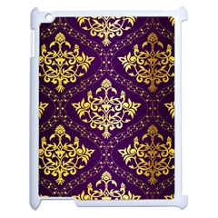 Flower Purplle Gold Apple Ipad 2 Case (white) by Mariart