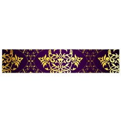 Flower Purplle Gold Flano Scarf (small) by Mariart