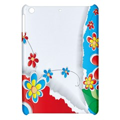 Flower Floral Papper Butterfly Star Sunflower Red Blue Green Leaf Apple Ipad Mini Hardshell Case by Mariart