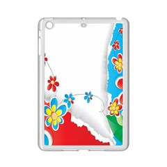 Flower Floral Papper Butterfly Star Sunflower Red Blue Green Leaf Ipad Mini 2 Enamel Coated Cases by Mariart