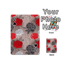 Flower Rose Red Black White Playing Cards 54 (mini)  by Mariart