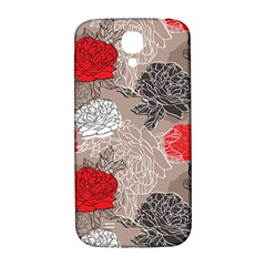 Flower Rose Red Black White Samsung Galaxy S4 I9500/i9505  Hardshell Back Case by Mariart