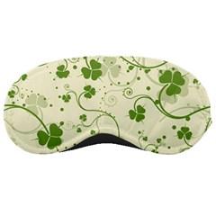 Flower Green Shamrock Sleeping Masks by Mariart