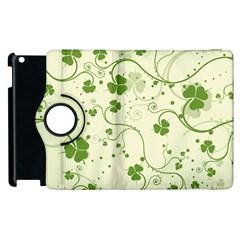 Flower Green Shamrock Apple Ipad 2 Flip 360 Case by Mariart