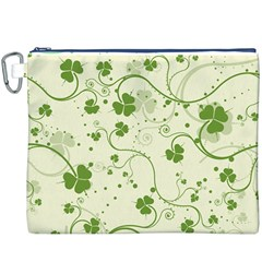 Flower Green Shamrock Canvas Cosmetic Bag (xxxl) by Mariart