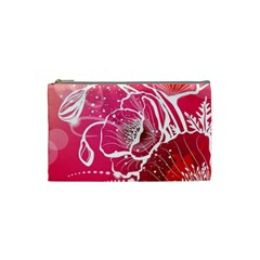 Flower Red Sakura Pink Cosmetic Bag (small)  by Mariart