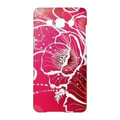 Flower Red Sakura Pink Samsung Galaxy A5 Hardshell Case  by Mariart