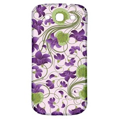 Flower Sakura Star Purple Green Leaf Samsung Galaxy S3 S Iii Classic Hardshell Back Case by Mariart