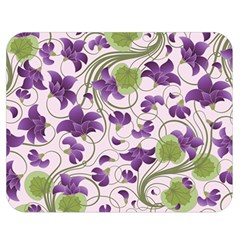 Flower Sakura Star Purple Green Leaf Double Sided Flano Blanket (medium)  by Mariart