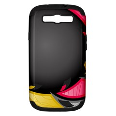 Hole Circle Line Red Yellow Black Gray Samsung Galaxy S Iii Hardshell Case (pc+silicone) by Mariart