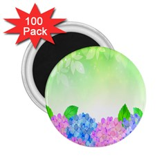 Fruit Flower Leaf 2 25  Magnets (100 Pack)  by Mariart