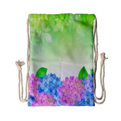Fruit Flower Leaf Drawstring Bag (small) by Mariart