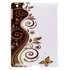 Leaf Brown Butterfly Apple Ipad 3/4 Hardshell Case (compatible With Smart Cover) by Mariart
