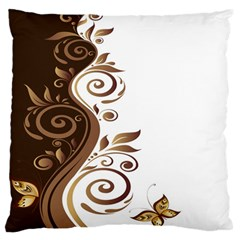 Leaf Brown Butterfly Standard Flano Cushion Case (two Sides) by Mariart