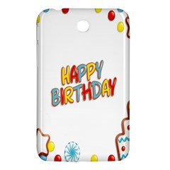 Happy Birthday Samsung Galaxy Tab 3 (7 ) P3200 Hardshell Case  by Mariart
