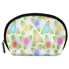Fruit Grapes Purple Yellow Blue Pink Rainbow Leaf Green Accessory Pouches (large)  by Mariart