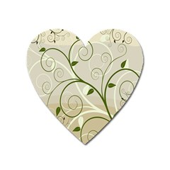 Leaf Sexy Green Gray Heart Magnet by Mariart