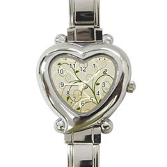 Leaf Sexy Green Gray Heart Italian Charm Watch by Mariart
