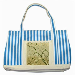 Leaf Sexy Green Gray Striped Blue Tote Bag by Mariart