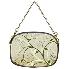 Leaf Sexy Green Gray Chain Purses (two Sides)  by Mariart