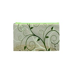 Leaf Sexy Green Gray Cosmetic Bag (xs) by Mariart