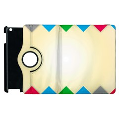 Plaid Wave Chevron Rainbow Color Apple Ipad 2 Flip 360 Case by Mariart