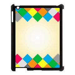 Plaid Wave Chevron Rainbow Color Apple Ipad 3/4 Case (black) by Mariart
