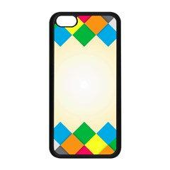 Plaid Wave Chevron Rainbow Color Apple Iphone 5c Seamless Case (black) by Mariart