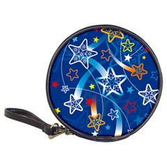 Line Star Space Blue Sky Light Rainbow Red Orange White Yellow Classic 20 Cd Wallets by Mariart