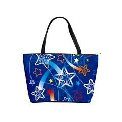 Line Star Space Blue Sky Light Rainbow Red Orange White Yellow Shoulder Handbags by Mariart
