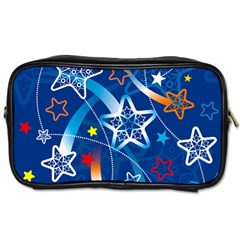 Line Star Space Blue Sky Light Rainbow Red Orange White Yellow Toiletries Bags 2 Side by Mariart