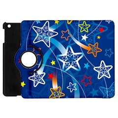 Line Star Space Blue Sky Light Rainbow Red Orange White Yellow Apple Ipad Mini Flip 360 Case by Mariart