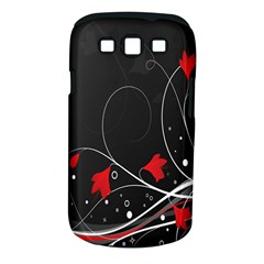 Star Red Flower Floral Black Leaf Polka Circle Samsung Galaxy S Iii Classic Hardshell Case (pc+silicone) by Mariart