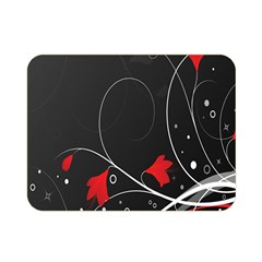 Star Red Flower Floral Black Leaf Polka Circle Double Sided Flano Blanket (mini)  by Mariart