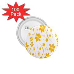Shamrock Yellow Star Flower Floral Star 1 75  Buttons (100 Pack)  by Mariart