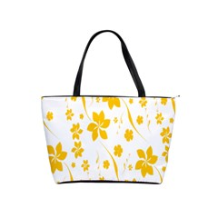 Shamrock Yellow Star Flower Floral Star Shoulder Handbags by Mariart