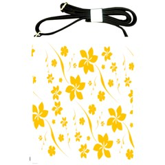 Shamrock Yellow Star Flower Floral Star Shoulder Sling Bags by Mariart
