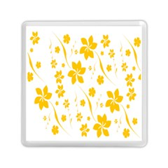 Shamrock Yellow Star Flower Floral Star Memory Card Reader (square)  by Mariart